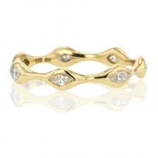 Marquise Diamond Eternity 18k Yellow Gold Ring Image