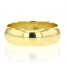 Solid 18k Yellow Gold Band Image