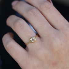 Champagne Cushion Diamond Solitaire Ring Image