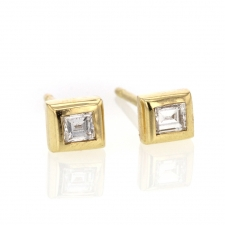 Baguette White Diamond Stud Earrings Image
