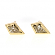 Light Yellow Diamond Kite Stud Earrings Image