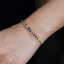 Multi Gemstone Bangle Bracelet Image