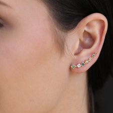 Single Nageoire Multi Gemstone Ear Cuff Image