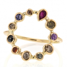 Multi Gemstone Circle Ring Image