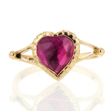 Heart of Glass Gold Ring Image