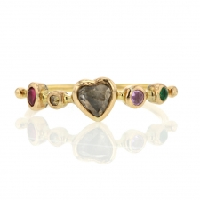 Diamond Heart Gemstone Ring Image