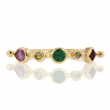 Pink Sapphire, Emerald, Spinel and Diamond Ring