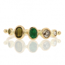 Tourmaline Emerald Sapphire and Diamond Band Image