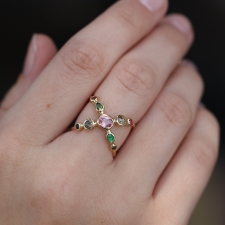 Gemstone Cross Ring Image