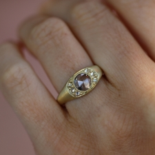 18k Gold Champagne Diamond Ring Image