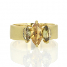Triple Marquis Diamond 18k Gold  Ring Image