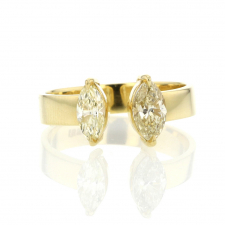 Marquis Diamond Split Shank 18k Gold Ring Image