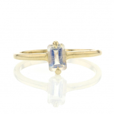 Small Moonstone 14k Gold Ring Image