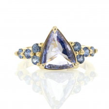 Unique Blue Sapphire Gold Ring Image