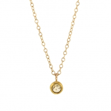 Rose Cut Champagne Diamond Drop Necklace Image