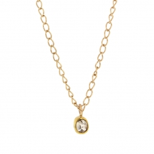 Gold Champagne Diamond Drop Necklace