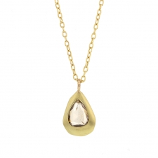 Champagne Diamond Gold Necklace Image