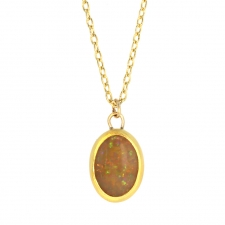 Ethiopian Opal Gold Necklace Image