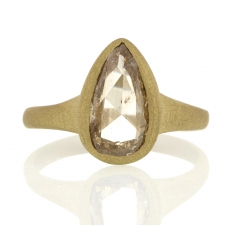 Teardrop Rose Cut Champagne Diamond in 18k Sandblasted Finish Image