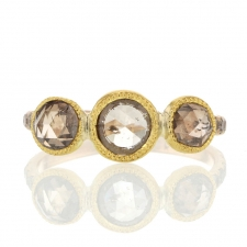 Triple Champagne Diamond Gold Ring Image