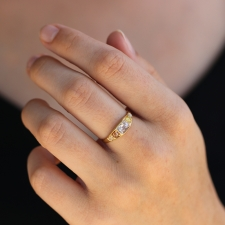 Gold Mixed Diamond Ring Image