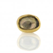 Gold Sapphire Single Stud Earring 3 Image
