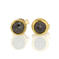 Opaque Diamond Gold Stud Earrings Image