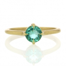 Emerald 18k Yellow Gold Ring Image