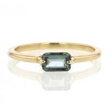 Blue Tourmaline Gold Simple Ring Image