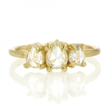 Triple Diamond 18k Gold Eagle Claw Ring Image