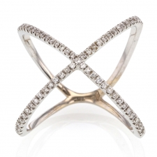 White Diamond X 18k White Gold Ring