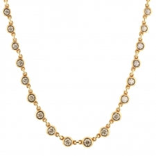 Diamond 18k Rose Gold Spectacular Necklace Image