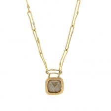 Pale Yellow Grey Diamond Necklace Image