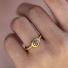 Teardrop Gold Diamond Ring Image