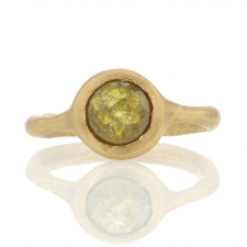 Olive Colored Diamond 18k Gold Ring Image