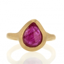 Ruby Teardrop Gold Ring Image