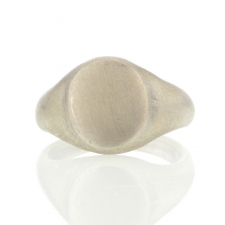 Silver Classic Signet Silver Ring Image