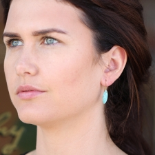 Amazonite Gold Seed Earrings Image