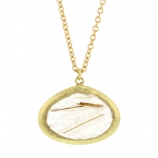 Rutilated Quartz 18k Gold Necklace Image