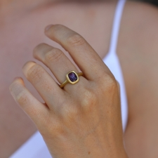 Royal Purple Sapphire Ring Image