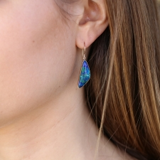 Malachite Azurite and Chrysocolla Earrings Image