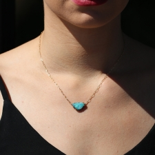 Boulder Opal Gold Shield Necklace Image