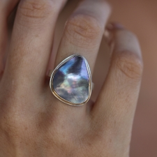 Asymmetrical Mabe Pearl Ring Image