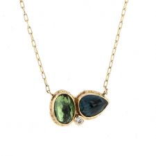 Blue and Green Tourmaline Necklace Image