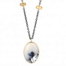Oval Dendritic Agate Necklace Image