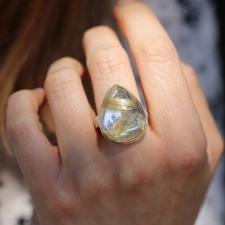 Teardrop Star Rutilated Quartz Ring Image