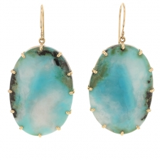 Chrysocolla in Quartz Prong Earrings Image