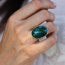 Dioptase Statement Ring Image