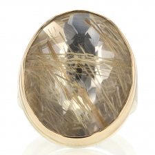 Golden Rutilated Silver and Gold Ring Image