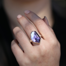 Asymmetrical Faceted Amethyst Ring Image